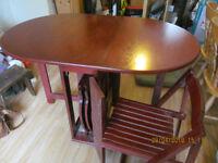 oval folding table
