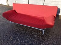 Klik-Klak Futon Sofa Bed in Red