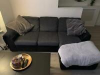 L-shaped right hand facing sofa
