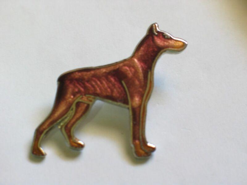 Doberman dog Pin ,  (Brown) (**