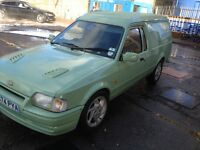 Ford Escort Van, Mk4, G-reg, Turbo Diesel, RS Turbo Alloys, Bonnet, Interior.
