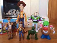 Disney Pixar Toy Story Bundle Sheriff Woody, Buzz Lightyear, Bullseye, Rex Dinosaur, Mr Potato Head