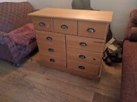 chest of 9 drawers, good condition, need gone soon!
