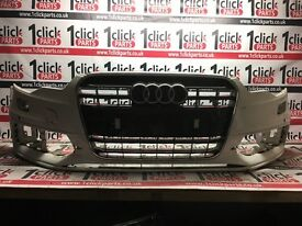 2012-2014 AUDI A6 4G0 S LINE BLACK EDITION FRONT BUMPER WITH GRILL GENUINE