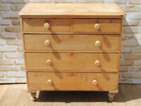 Victorian Wooden Large Chest of Drawers Antique (Delivery)