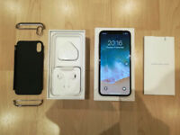 MINT CONDITION APPLE IPHONE X 64GB, UNLOCKED, SILVER, £675