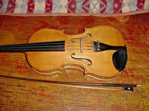 "WILLIAM  LEWIS VIOLA DANCLA TONE KLAR  15 1/2"" GERMAN MADE 70S GLASSER BOW"