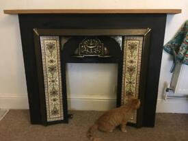 Retro Victorian style fireplace