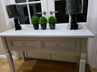 Solid wood tv unit & matching console table / hall table / sideboard / display unit (50 inches)