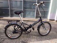 """RALEIGH PARKWAY"" FOLD-UP BIKE WITH BASKET/ BICYCLE/BIKE/CAMPING/MOTORHOME"
