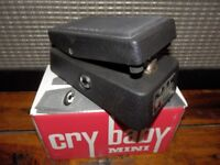 Dunlop Cry Baby Mini. As new