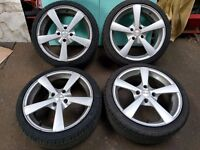 """Ford Fiesta 17"""" alloys with Tyres set of 4"""