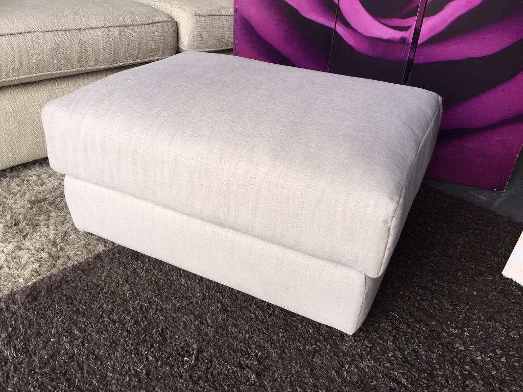 Furniture Village G Plan new furniture village g plan footstool in light grey fabric | in