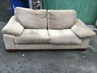 Beige large 2 seater sofa