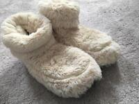 Microwaveable furry boots / slippers