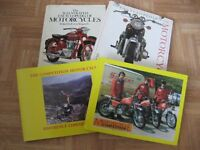 Motorcycle Books, 2 Encyclopedias of Motorcycling and 2 books on Motorcyle Competitions