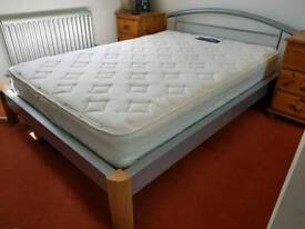 Double metal frame bed for sale