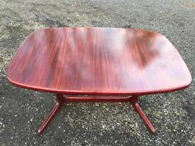 Vintage Skovby Rosewood Dining Table Made in Denmark