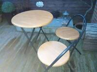 Bistro Table and two chairs.