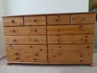 pine chest with 10 drawers various sizes