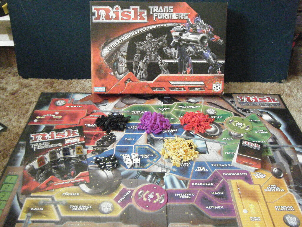 Risk Transformers (Cybertron Battle Edition) board game. Complete in great condition from 2007.