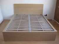 IKEA MALM Bed frame, white stained oak veneer