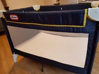 Little Tikes Navy Blue Travel Cot (with extra foam mattress for more comfort)