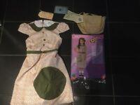 Girl evacuee costume dress, age 7-9 yrs