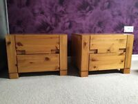 2 beautiful solid wood bedside tables