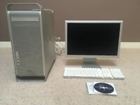Power Mac G5 + Cinema Display screen + keyboard + OS X Leopard