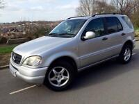 MERCEDES BENZ M CLASS ML 320 Automatic /triptronic # 5 seater # leather # cruise # p/sensors # s/his