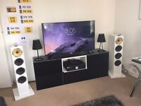 Bowers and Wilkins CM10 S2 WHITE + MUSICAL FIDELITY M6SI AMP HIFI