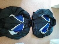 Two matching leather MOTORBIKE JACKETS - His and Hers