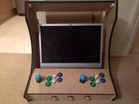 Half built bartop arcade machine