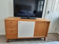 Retro TV Unit/Sideboard with sliding doors and drawers