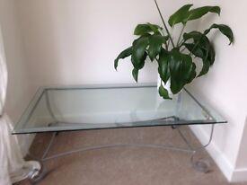 Beautiful plated glass coffee/ TV table