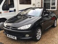 Peugeot 206 cc convertible (hard top) with M.O.T til June 2018 kenwood cd radio and remote locking x