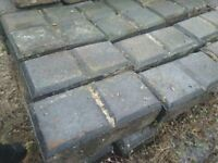 21sq/m Block paving bricks Black/Grey/Dark blue slabs stable square Victorian used aged reclaimed