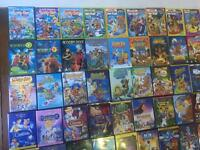 109 good condition DVD's, vast majority children's, including lots of Scooby Doo
