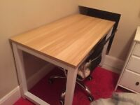 Light Walnut Desk - Excellent Condition