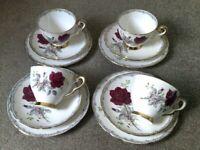 Vintage Royal Stafford Roses To Remember tea set