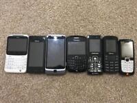 Mobiles phones 7 for £50 BARGAIN
