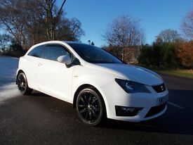 2012 12 SEAT IBIZA 1.2 TSI FR 3 DOOR MANUAL ONLY 21000 MILES