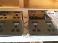 4 x Double plug socket with usb plus 5 extras