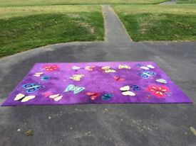 Designer butterfly area rug
