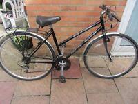 ladies british eagle hybrid bike 19 inch frame with lock and lights £59.00