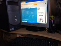 "Dell Dimension 3000 - Windows XP Professional - Dell Keyboard + Dell Mouse + 17"" Acer Monitor = £30"