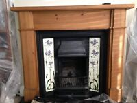 Fire Surround, Cast Iron fireplace and mirror