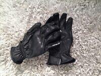 Spada motorcycle gloves. Black, short sport/cruiser.