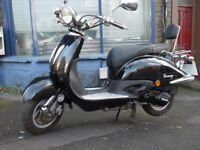 125cc black tommy retro scooter automatic re-listed
